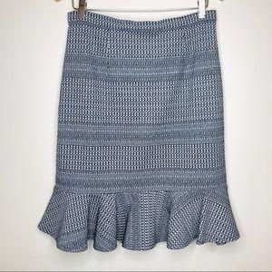 Banana Republic Knit Jacquard Flounce Skirt Size 6